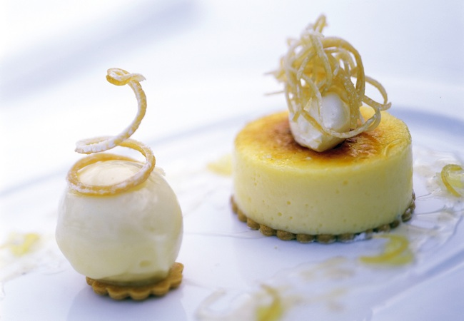 Caramelised lemon tart © Gidleigh Park